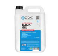 2 x 5 Litre Zidac Anti Bacterial Hand Gel- Hospital Grade Hand Gel