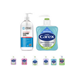 6 x Carex Hand Wash + 500ml Zidac Hand Gel