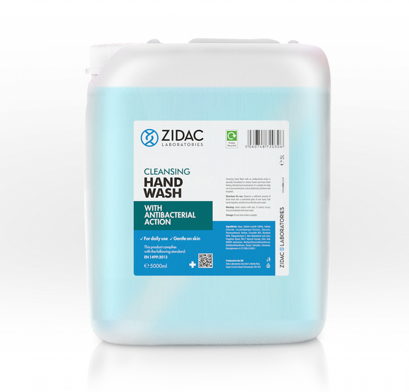 10L Zidac Anti Bacterial Hand Wash