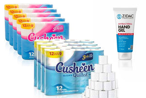 60 Cusheen ONLY WHITE+ 100ml Zidac Hand Gel HOSPITAL GRADE - YOU DON'T GET THIS ON AMAZON !!