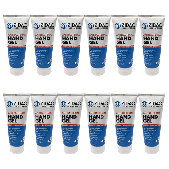 12 x 100ml Zidac Hospital Grade Hand Sanitiser  1200ml