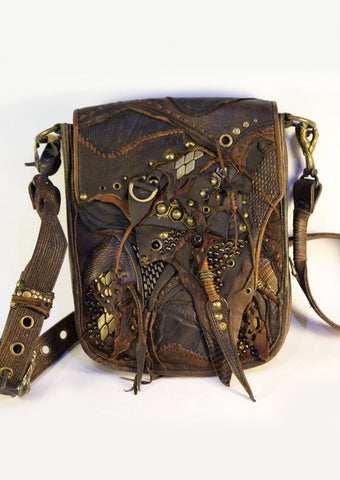 Claw leather bag