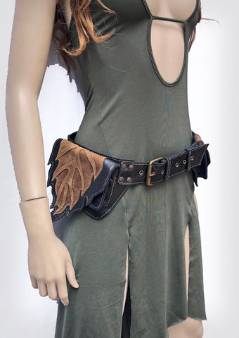 Leaf pocket belt