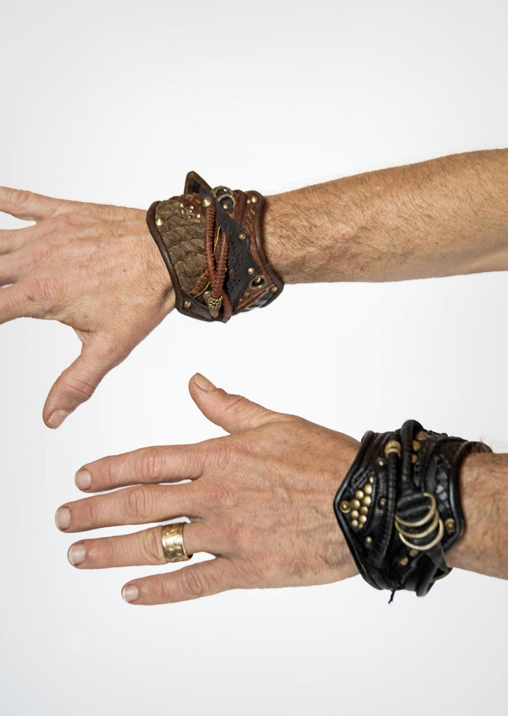 Hand made leather arm bands