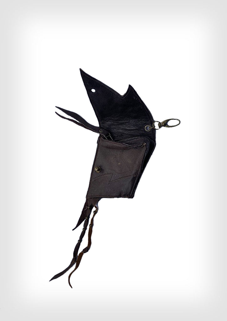 Leather pocket pouch