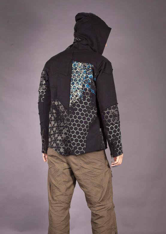 Techno Polygon Hoody