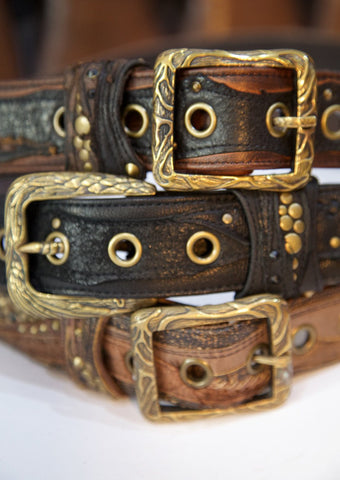 Hand made leather belt