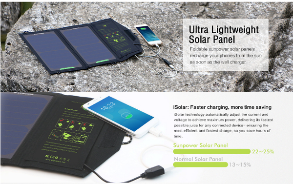 Folding Solar Smartphone Charger