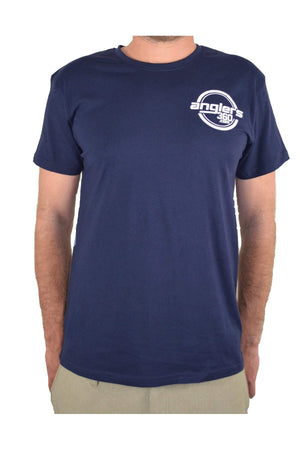 Mens S-Sleeve T-Shirt - Navy, Anglers360 Merchandise, anglers360