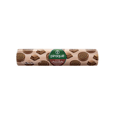 Piraque Chocolate Sandwich Cookies 7.05oz - Biscoito Recheado Chocolate 200g