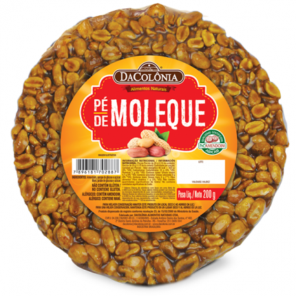 Da Colonia Peanut Brittle 7.05 oz  - Pe de Moleque 200g
