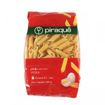 Piraque - Pena Massa com Ovos 500g - Penne Semolina pasta with Eggs
