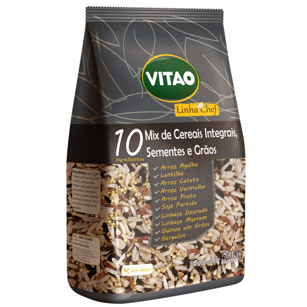 Vitao Arroz Integral 10 grãos e sementes - 500g Cereal Mix