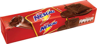 Nestle Nescau Chocolate with chocolate Biscuit 4.94oz  - Biscoito de Chocolate recheado 140g