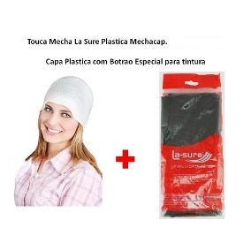 La-Sure Mob Cap - Touca Plastica Metalizada