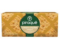 Piraque Biscoito Cream Cracker Integral 240g - Whole Wheat Cream Cracker 8.5oz