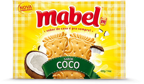 Mabel Coconut Biscuit 14.1oz - Biscoito de Coco 400g