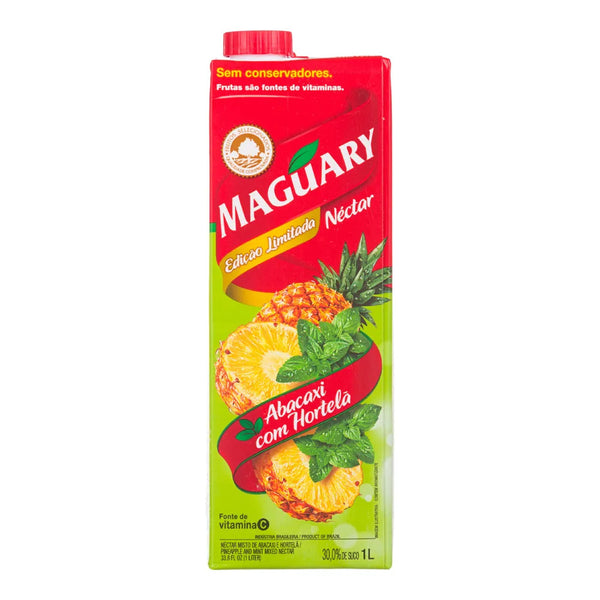 Maguary Pineapple juice with mint 33.8 fl.oz - Suco de Abacaxi com Hortela 1L
