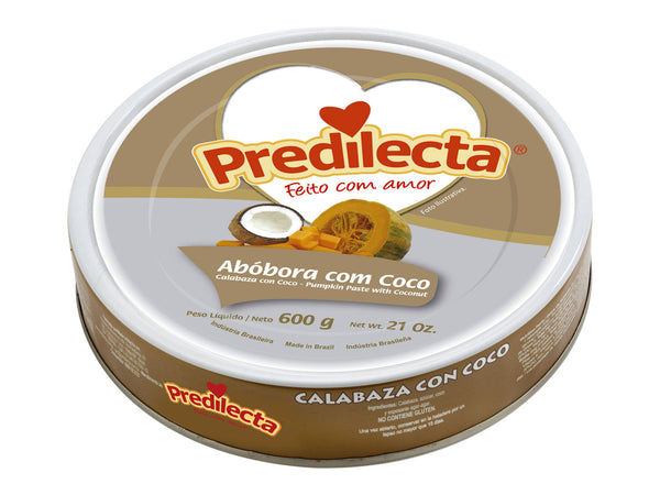 Predilecta Pumpkin Paste with Coconut 21oz - Doce de Abóbora com Coco 600g