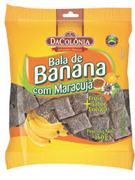 Da Colonia Banana Candy with passion fruit 160g - Bala de Banana com Maracuja