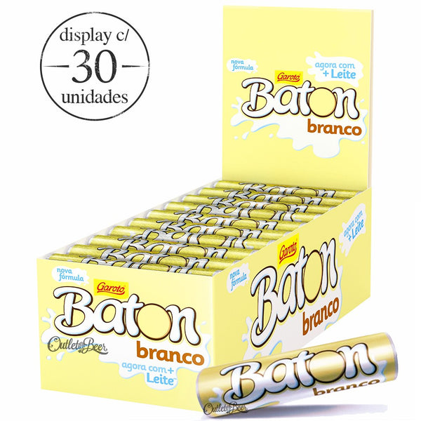 Baton White Chocolate box 30units - Chocolate branco caixa 30 unidades