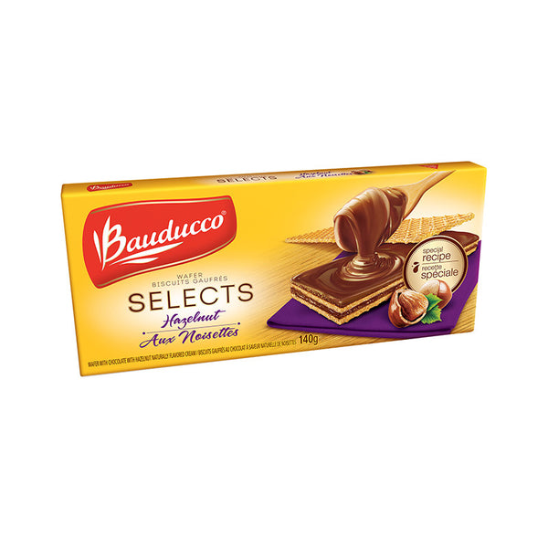 Bauducco Wafer Selects Hazelnut 4.94oz - Wafer chocolate com Avelã 140g