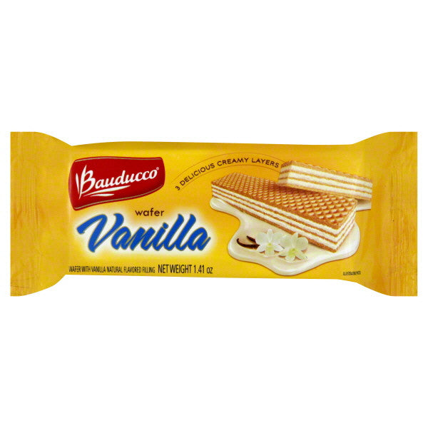 Bauducco To-Go Wafer Vanilla 1.41oz - Pacote Wafer Baunilha 40g