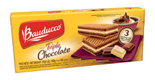 Bauducco Wafer Triple Chocolate 5.82oz - Wafer triple chocolate 165g