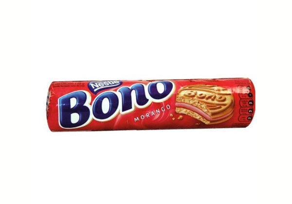 Nestle Bono Strawberry Cream Sandwich Biscuit 4.93oz - Biscoito recheado sabor morango 140g