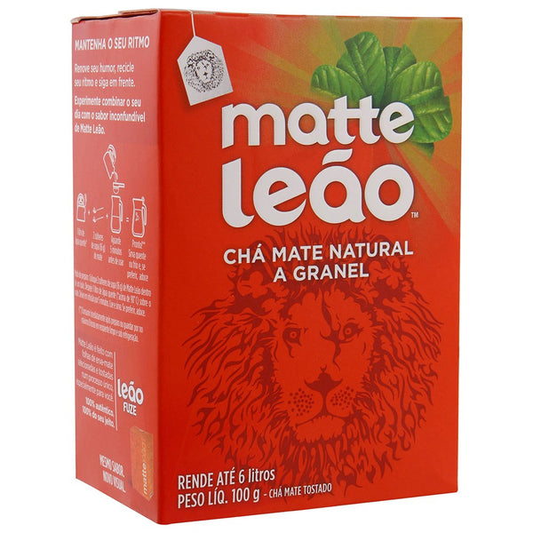 Matte Leao Cha Natural Granel 100g  - Mate Loose Tea Leaves 100g
