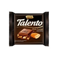 Garoto Talento Dark Chocolate with Almonds - Chocolate Meio Amargo com Almendoas 90g