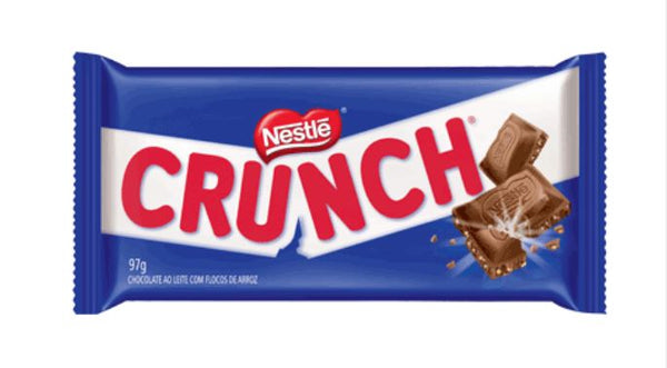 Nestle Crunch - Milk chocolate with Rice Flakes / Chocolate ao Leite com Flocos de Arroz 90g