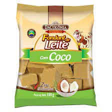 Da Colonia Foundant de leite com Coco 160g - Foundant Milk and Coconut