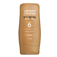 Cenoura & Bronze Sun Tanner Colored Tanning Lotion - Locao Bronzeadora FPS6 110ml