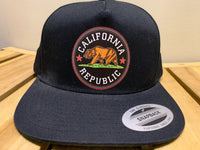 Brazi Cali Cap/hat - Bone California Republic Preto e Verde