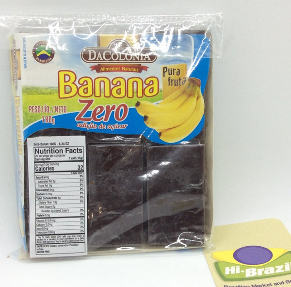 Da Colonia Zero Sugar Banana Bar – Bananada Zero 180g