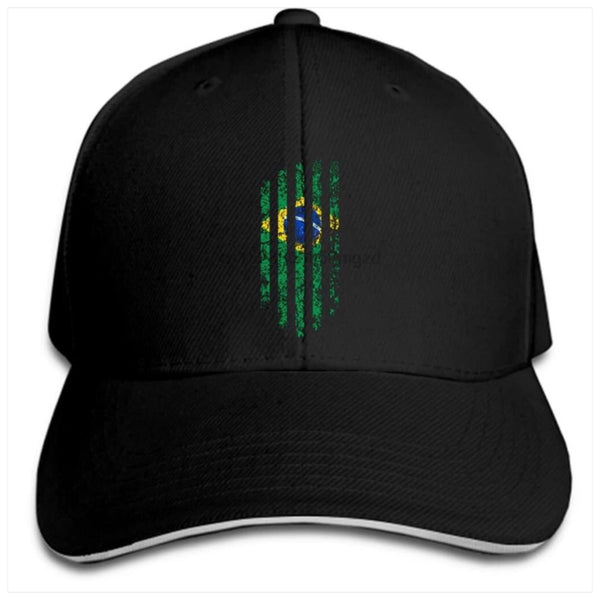Brazil Cap Brazil flag (stripes)/Black - Bone Bandeira do Brasil (listras)/Preto