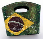Brazil Leather Mini Basket 20x13x15.5 cm - Porta Objetos de Couro Mini