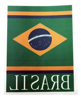 Car Reverted Sticker Brazil Flag - Adesivo veicular Brasil Revertido