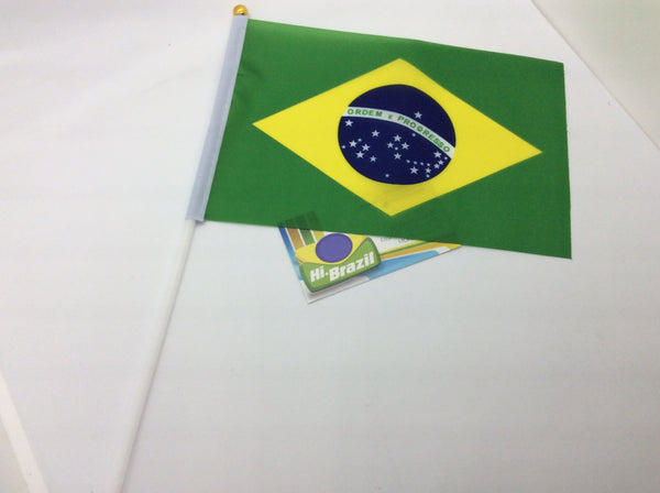 Hand Flag - Bandeira de Mao 8x6 inches