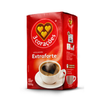 3 Coracoes Extra Strong Coffee - Cafe Extra Forte 500g