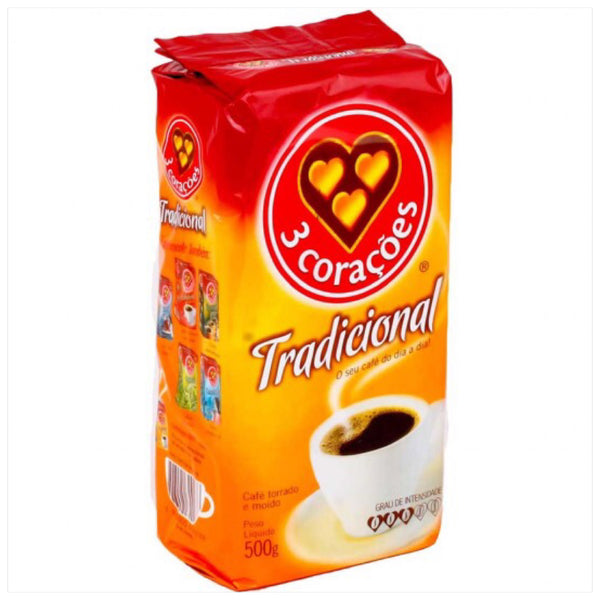 3 Coracoes Traditional Coffee - Café Tradicional 500g
