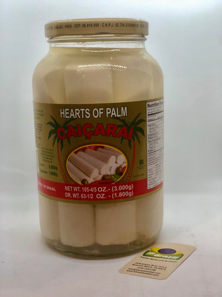 Caicarai Brazilian Whole Heart of Palm 1.8kg - Palmito Inteiro