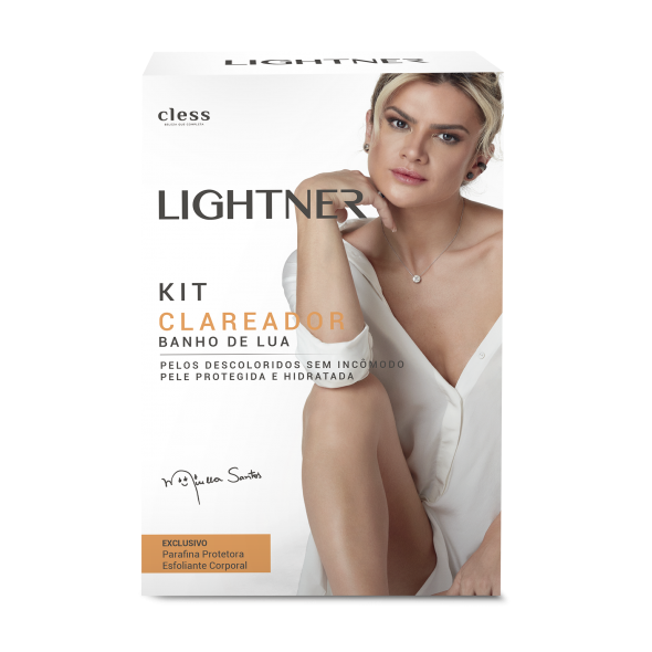Lightner hair bleaching kit - kit clareador banho de lua
