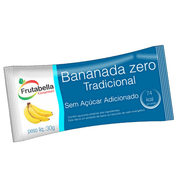 Frutabella Creamy Banana Candy Light - Bananada Cremosa Zero Unid/Box