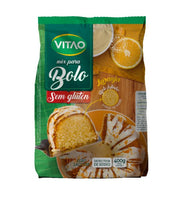 Vitao Mix Bolo de Laranja Sem Gluten 400g - Orange Cake Mix Gluten Free 14.10oz