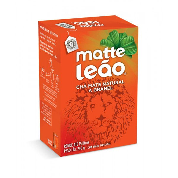 Matte Leao Cha Natural Granel 250g  - Mate Loose Tea Leaves 250g