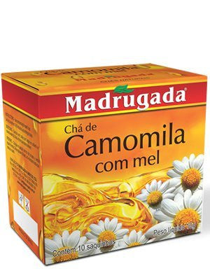 Madrugada Chamomile Tea with honey 0.35oz 10 bags - Cha de Camomila com mel 10 saquihos 10g