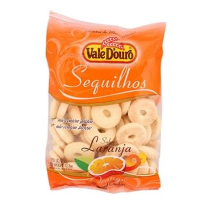 Vale D'Ouro Orange flavored Cookies 12.3oz - Sequilhos sabor Laranja 350g