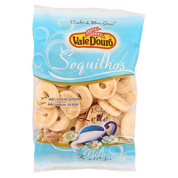 Vale D'Ouro Milk flavored Cookies 12.3oz - Sequilhos sabor Leite 350g